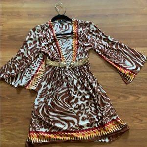 Sky leopard mini dress
